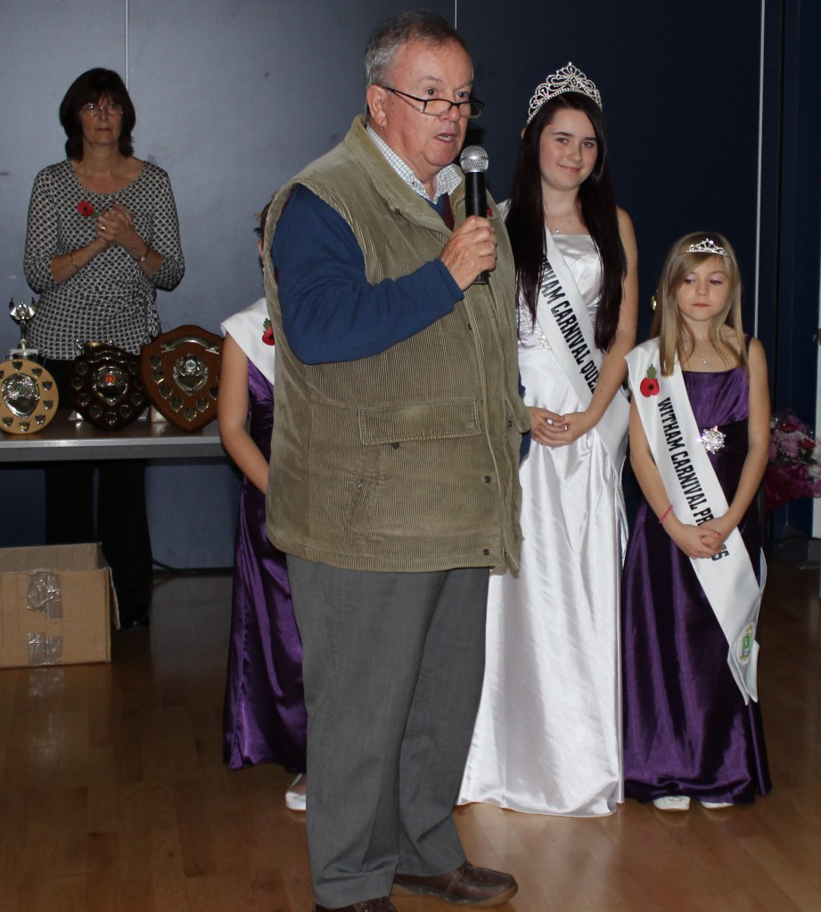 Presentationby Witham Carnival Ass. Received by Gus Tod (Our Chairman) Nov 2013